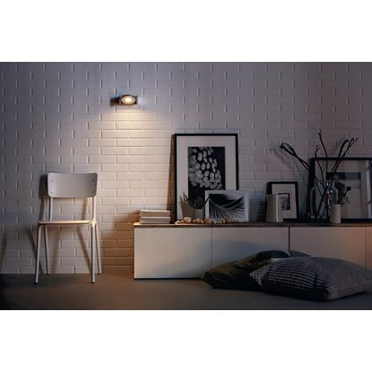 Philips myLiving LED-Spot 1er Particon Warmglow Aluminium EEK: A-A++