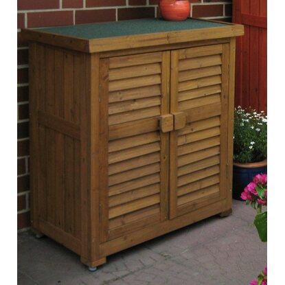 leco aufbewahrungsschrank f r den au enbereich honigfarben kaufen bei obi. Black Bedroom Furniture Sets. Home Design Ideas