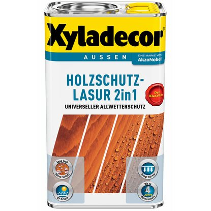 Xyladecor Holzschutz-Lasur 2in1 Walnuss 750 ml