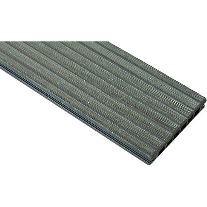 wpc terrassendielen graphit 2 4 cm x 14 5 cm x 240 cm kaufen bei obi. Black Bedroom Furniture Sets. Home Design Ideas