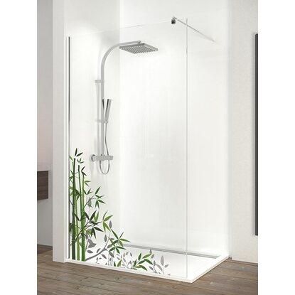 schulte duschwand walk in chrom dekor bambus 200 cm x 90. Black Bedroom Furniture Sets. Home Design Ideas