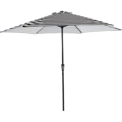 Obi Sonnenschirm Honolulu Grau Gestreift 300 Cm Kaufen