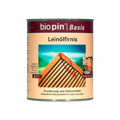 Biopin Leinölfirnis Transparent 750 ml