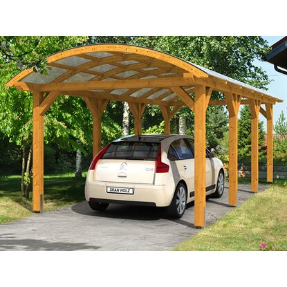 skan holz bogendach carport franken 376 cm x 755 eiche hell kaufen bei obi. Black Bedroom Furniture Sets. Home Design Ideas