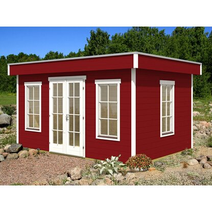 skan holz holz gartenhaus basel 1 schwedenrot b x t 420 cm x 300 cm kaufen bei obi. Black Bedroom Furniture Sets. Home Design Ideas
