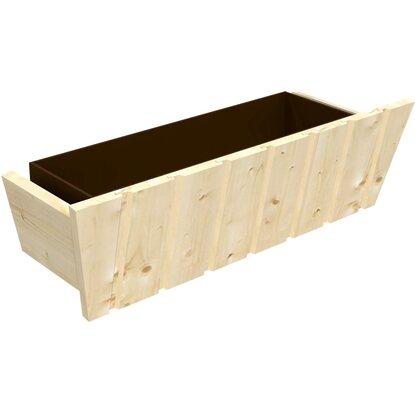 blumenkasten aus holz mit 60 cm kunststoffeinsatz kaufen. Black Bedroom Furniture Sets. Home Design Ideas