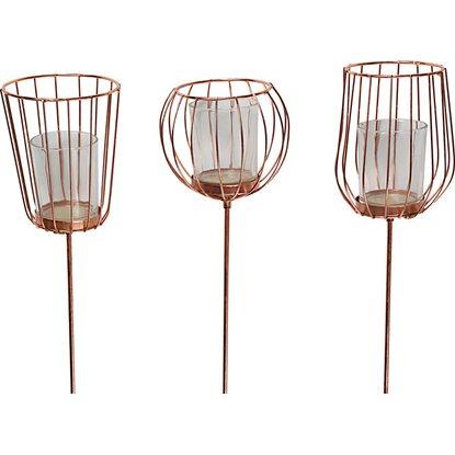 deko stecker mit kerzenhalter 90 cm kupfer kaufen bei obi. Black Bedroom Furniture Sets. Home Design Ideas