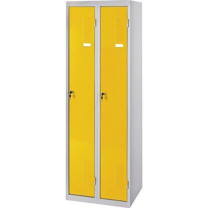 Doppel Spind Schrank Gelb Kaufen Bei Obi