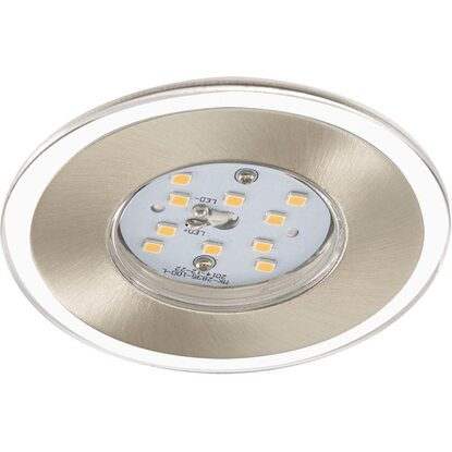 Briloner LED-Einbauleuchte 3er-Set Nickel matt 3-Stufendimmer H: 3,5 cm Ø: 8 cm