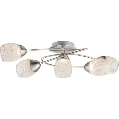 Globo LED-Deckenleuchte HELENA Chrom Nickel matt EEK: A+
