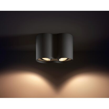 Philips Hue LED-Spot 2er Pillar Schwarz EEK: A++