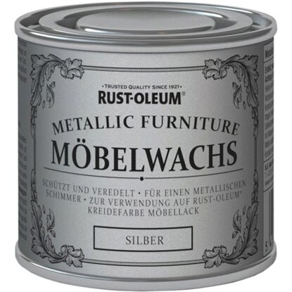 rust oleum kreidefarbe m belwachs politur metallic silber 125 ml kaufen bei obi. Black Bedroom Furniture Sets. Home Design Ideas