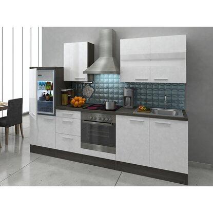 respekta premium k chenzeile rp270ewc 270 cm wei eiche grau nachbildung kaufen bei obi. Black Bedroom Furniture Sets. Home Design Ideas