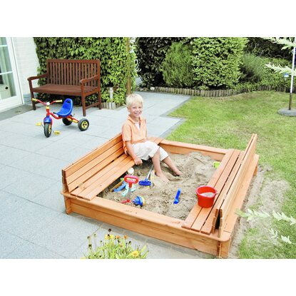 sandkasten donald mit klappbarer abdeckung 140 cm x 140 cm kaufen bei obi. Black Bedroom Furniture Sets. Home Design Ideas