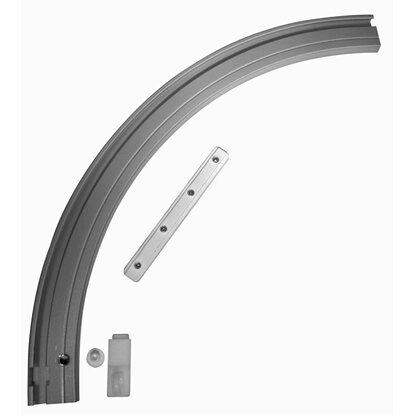 gardinia rundbogen rechts f r vorhangschiene 1 l ufig aluminium kaufen bei obi. Black Bedroom Furniture Sets. Home Design Ideas