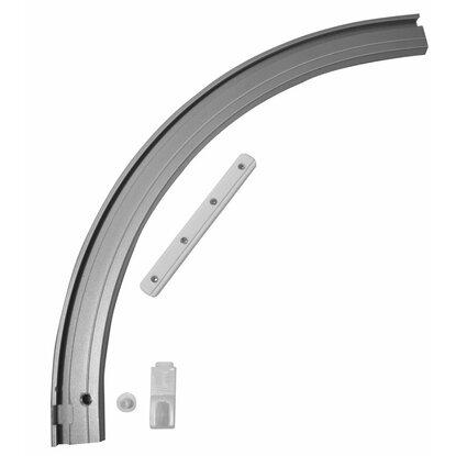 gardinia rundbogen links f r vorhangschiene 1 l ufig aluminium kaufen bei obi. Black Bedroom Furniture Sets. Home Design Ideas