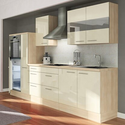 respekta premium k chenzeile rp300hava 300 cm vanille. Black Bedroom Furniture Sets. Home Design Ideas