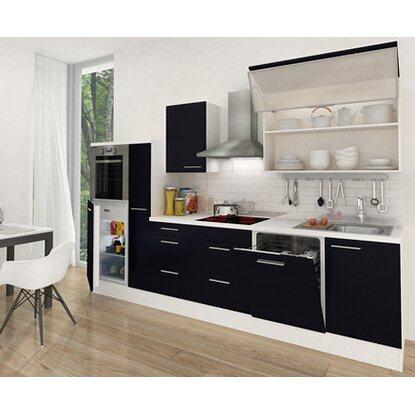 respekta premium k chenzeile rp310hws 310 cm schwarz wei kaufen bei obi. Black Bedroom Furniture Sets. Home Design Ideas