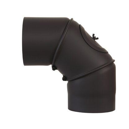 obi rauchrohrbogen 90 150 mm schwarz kaufen bei obi. Black Bedroom Furniture Sets. Home Design Ideas