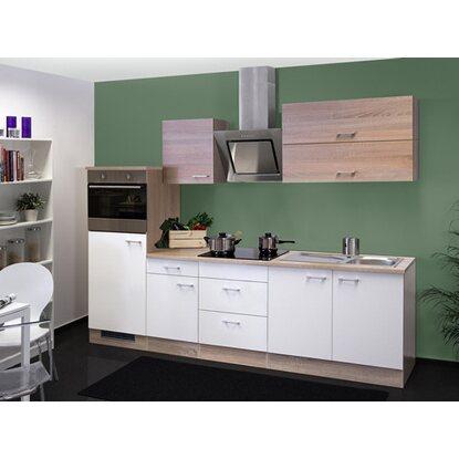 flex well classic k chenzeile florida 270 cm wei sonoma eiche nachbildung kaufen bei obi. Black Bedroom Furniture Sets. Home Design Ideas