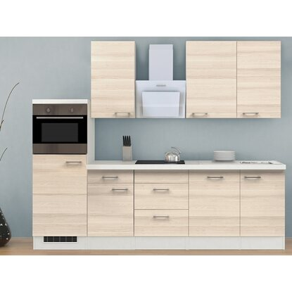 flex well exclusiv k chenzeile akazia 280 cm akazie. Black Bedroom Furniture Sets. Home Design Ideas