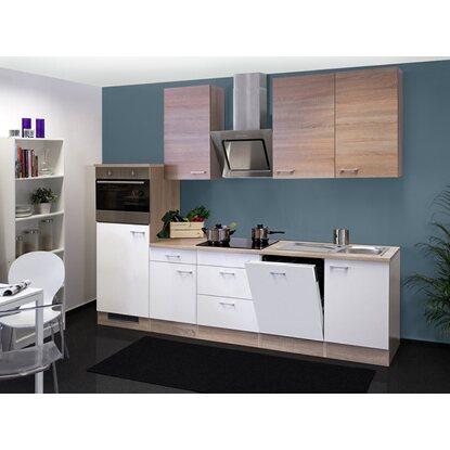 flex well classic k chenzeile florida 280 cm wei sonoma eiche nachbildung kaufen bei obi. Black Bedroom Furniture Sets. Home Design Ideas