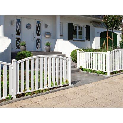 gartenzaun element longlife cleo wei rund 180 cm x 85 102. Black Bedroom Furniture Sets. Home Design Ideas