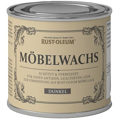 rust oleum kreidefarbe m belwachs dunkel matt 125 ml. Black Bedroom Furniture Sets. Home Design Ideas