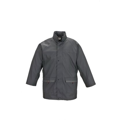 Herren-Regenjacke Job Active Anthrazit Gr. L