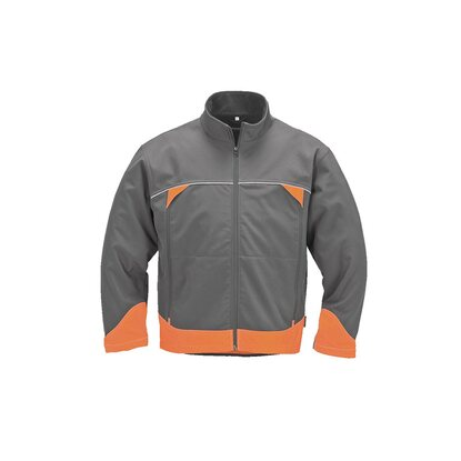 Herren-Softshelljacke Forst Grau-Orange Gr. L