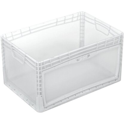 Eurobox-System Box Flap Side 60 x 40 x 32 cm Transparent
