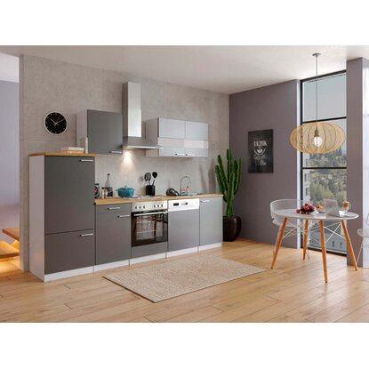 respekta k chenzeile ohne e ger te lbkb280wg 280 cm grau wei kaufen bei obi. Black Bedroom Furniture Sets. Home Design Ideas