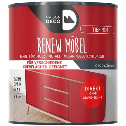 Maisondeco Renew-Möbelfarbe Rot 500 ml