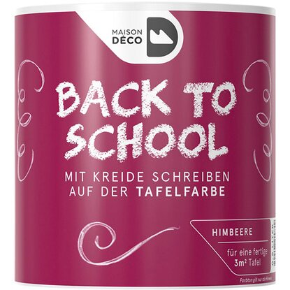 "Maisondeco Tafelfarbe ""Back to School"" Himbeere 500 ml"
