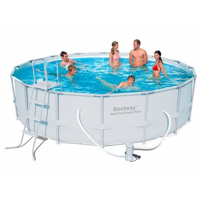 Pool set steel frame 488 cm x 122 cm kaufen bei obi for Swimming pools bei obi