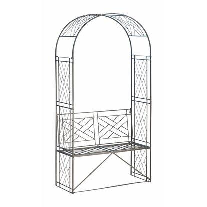 obi rosenbogen mit bank cardiff 220 cm anthrazit kaufen. Black Bedroom Furniture Sets. Home Design Ideas