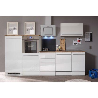 Respekta premium küchenzeile 290 cm weiß hochglanz