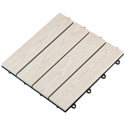 klick fliese wpc wei 30 x 30 cm 6 st ck kaufen bei obi. Black Bedroom Furniture Sets. Home Design Ideas