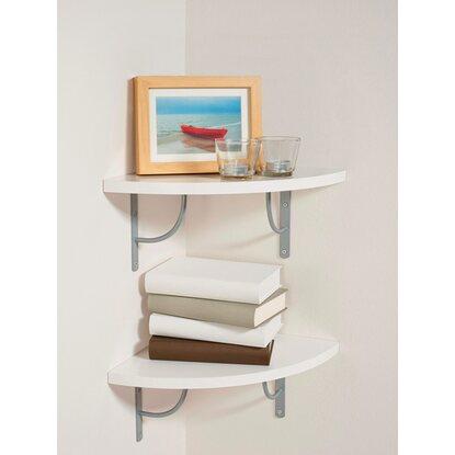 eck wandregal wei dekoration m bel zubeh r. Black Bedroom Furniture Sets. Home Design Ideas