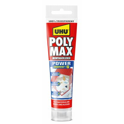 Uhu Poly Max Montagekleber Power Transparent Tube 115 g