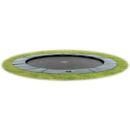 Exit Bodentrampolin Supreme Ground Level Ø 366 cm Grau