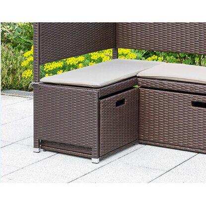 Unterschiebbox Polyrattan 49 X 47 X 40 Cm Braun Fur Garten Eckbank 3