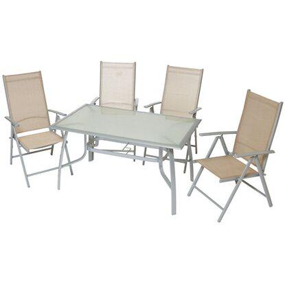 Gartenmöbel-Set Amalfi 5-tlg. Champagner kaufen bei OBI