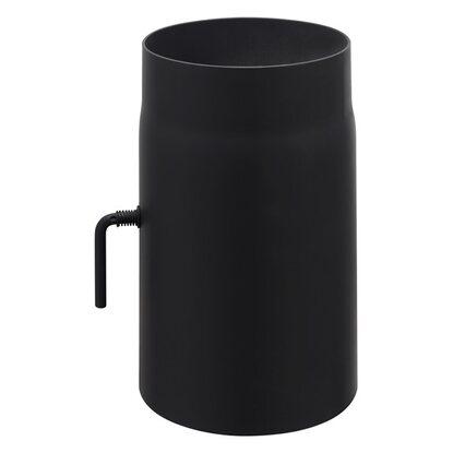obi rauchrohr mit drosselklappe 150 mm schwarz kaufen bei obi. Black Bedroom Furniture Sets. Home Design Ideas