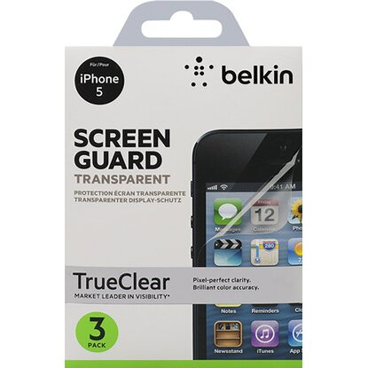 Belkin Displayschutz für iPhone 5 3er Pack Transparent