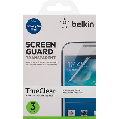 Belkin Displayschutz für Samsung Galaxy S4 Mini 3er Pack Transparent