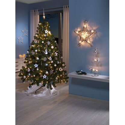 k nstlicher weihnachtsbaum 120 cm mit led beleuchtung. Black Bedroom Furniture Sets. Home Design Ideas