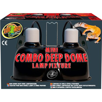 ZooMed Mini Combo Deep Dome Lamp Fixture