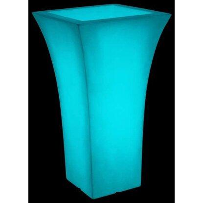 farmet pflanzk bel patio square fluo 49x49cm 85cm hoch wei blau fluoreszierend kaufen bei obi. Black Bedroom Furniture Sets. Home Design Ideas