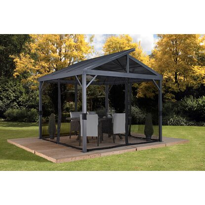 Sojag Aluminium Pavillon South Beach 12 x 12 Anthrazit 363 cm x 363 cm x 313 cm